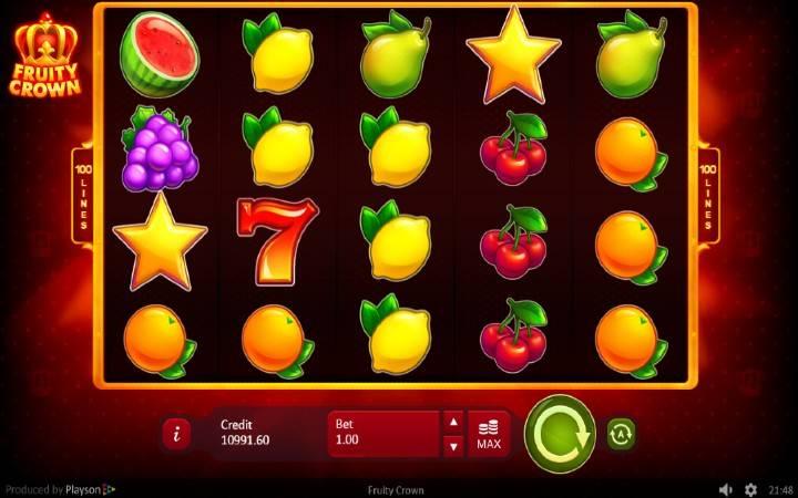 Fruity Crown, Online Casino Bonus, Playson