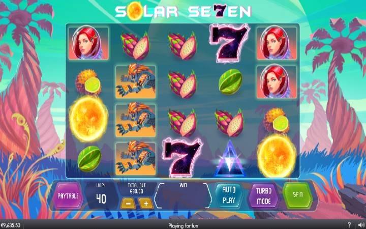 Solar Seven, Online Casino Bonus, Playtech