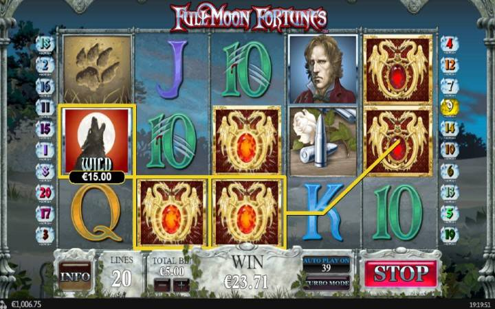 Full Moon Fortunes, Online Casino Bonus, Playtech