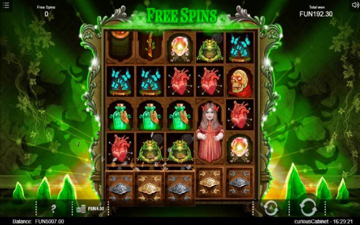 Besplatni Spinovi, Online Casino Bonus, The Curious Cabinet