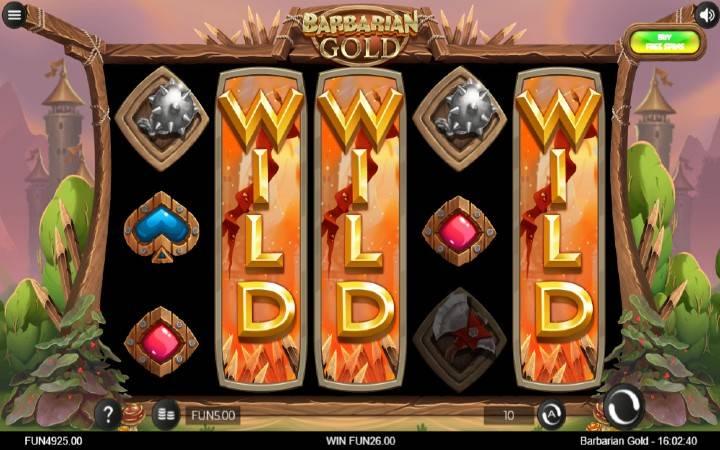 Džokeri, Barbarian Gold, Online Casino Bonus