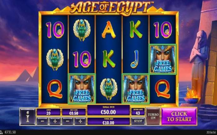 Besplatni Spinovi, Online Casino Bonus, Age of Egypt
