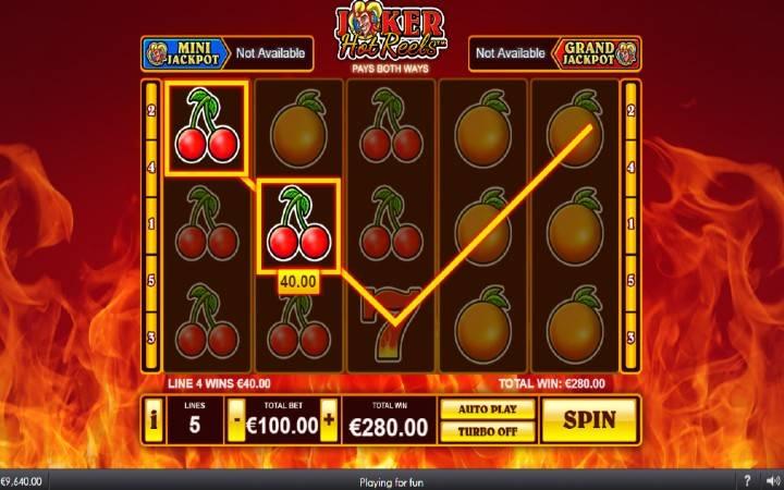 Online Casino Bonus, Trešnje,Joker Hot Reels