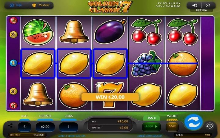 Online Casino Bonus, Golden 7 Classic