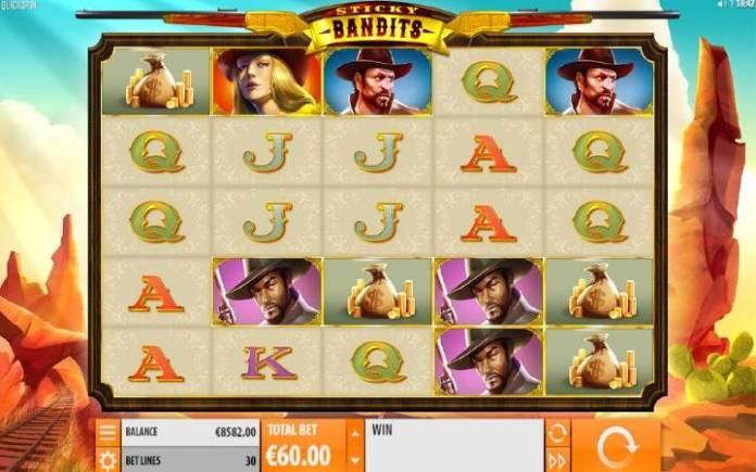 Sticky Bandits, Online Casino Bonus, Quickspin