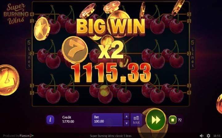 Duplirajte vaše dobitke, Online Casino Bonus, Super Burning Wins