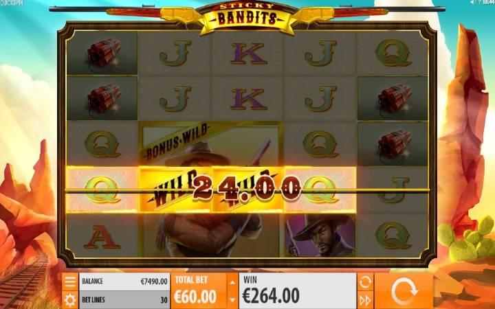 Online Casino Bonus, Sticky Bandits