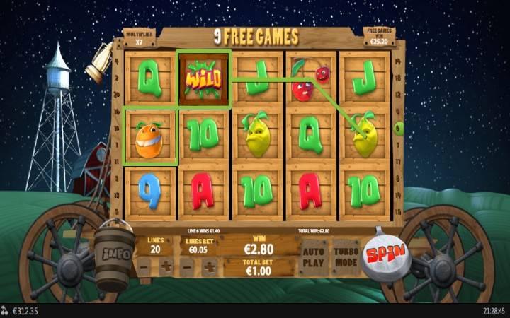 Džoker, Online Casino Bonus, Funky Fruits Farm