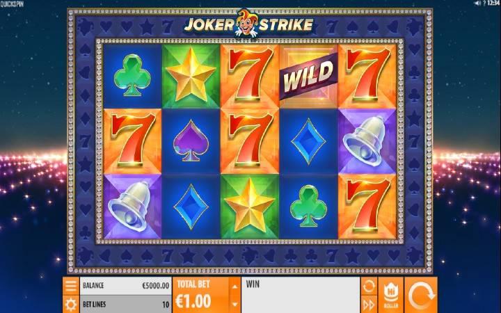 Joker Strike, Quickspin, Online Casino Bonus