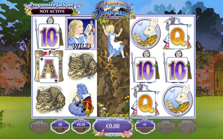 Adventure in Wonderland Deluxe, Playtech, Online Casino Bonus