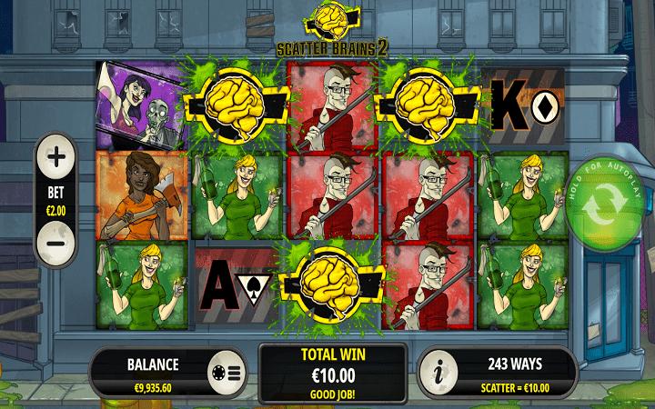 Scatter Brains 2, Playtech, Online Casino Bonus