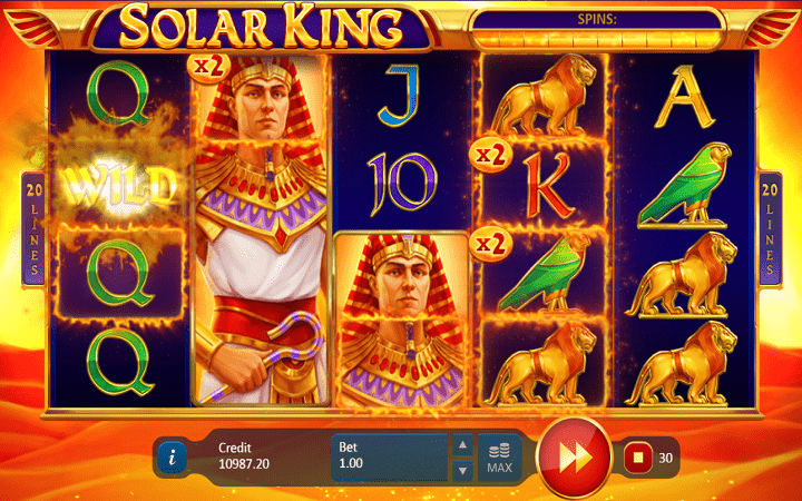 Solar King, Playson, Online Casino Bonus