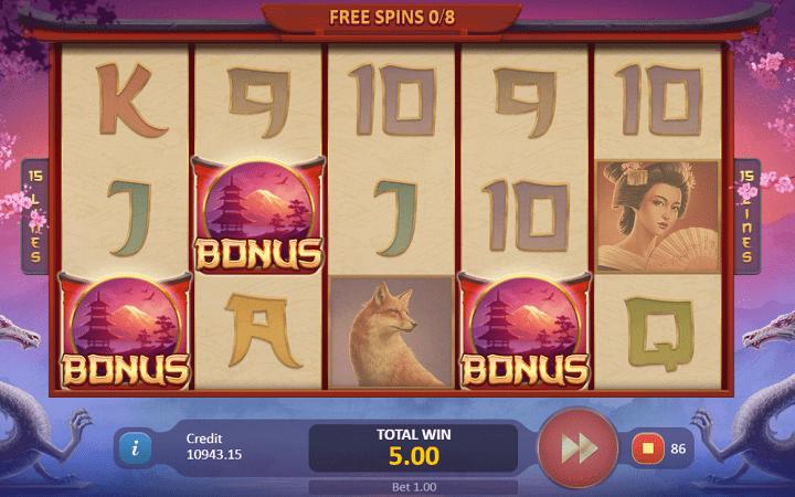 Sakura Dragon, Playson, Online Casino Bonus