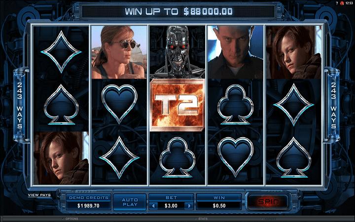 Terminator II, Online Casino Bonus