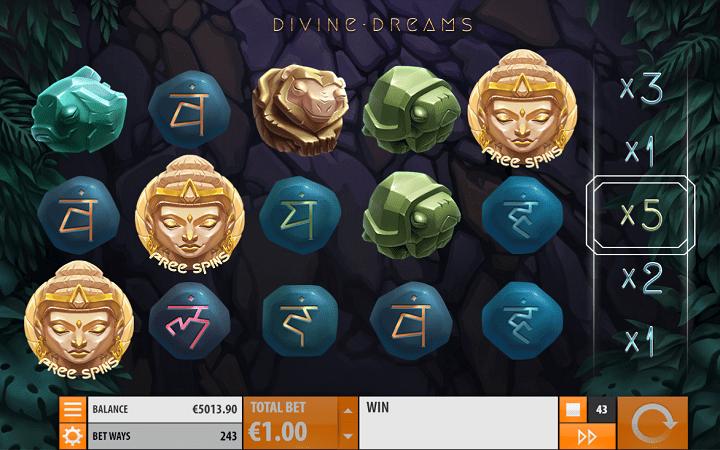 Divine Dreams, Quickspin, Playtech, Online Casino Bonus