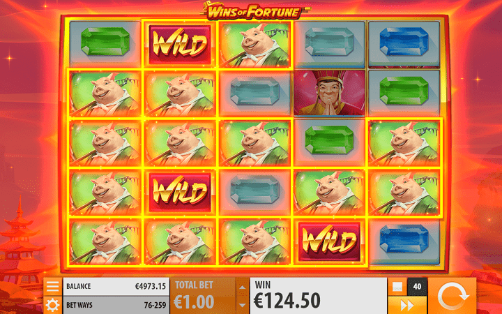 Wins of Fortune, Quickspin, Playtech, Online Casino Bonus