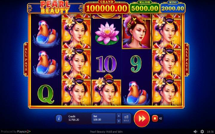 Pearl Beauty: Hold and Win, Online Casino Bonus, Playson