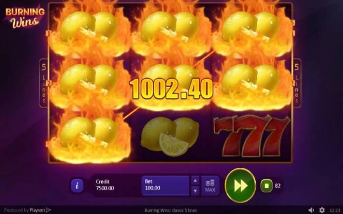 Online Casino Bonus, Vatreni Dobitak, Burning Wins: Classic 5 Lines