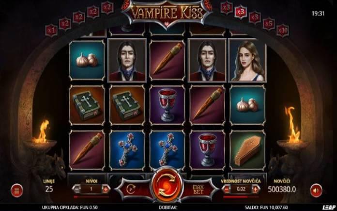 Vampire Kiss, Online Casino Bonus, Leap