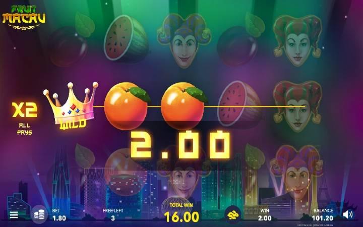 Besplatni spinovi, Online Casino Bonus, Fruit Macau
