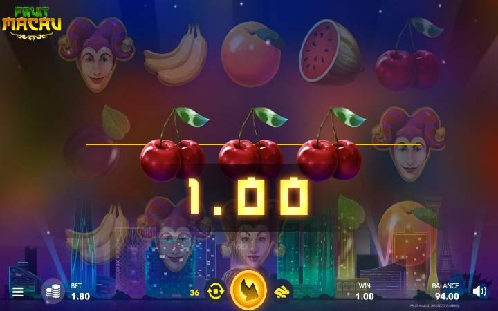 Fruit Macau, Online Casino Bonus