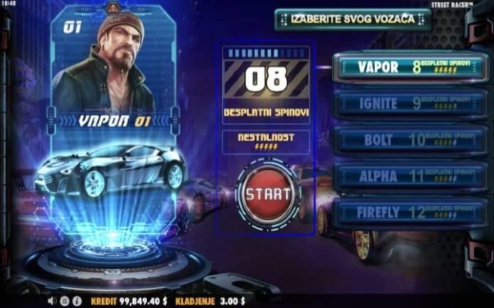 BEsplatni Spinovi Online Casino Bonus, Street Racer