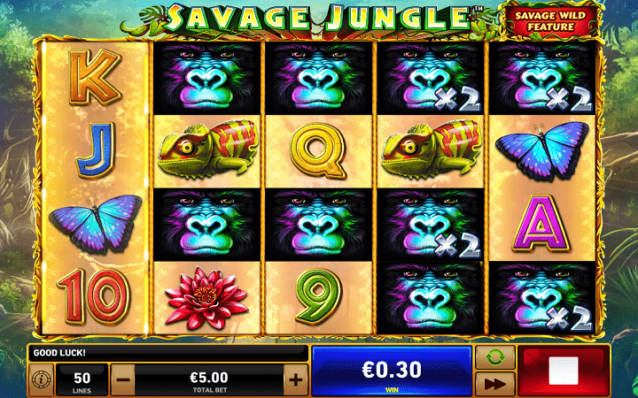 Savage Jungle, Playtech, Online Casino Bonus