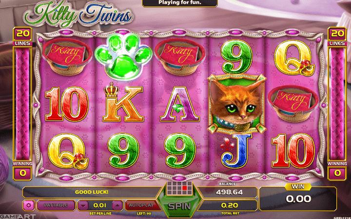 Kitty Twins, GameArt, Online Casino Bonus