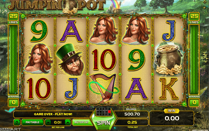 Jumpin Pot, GameArt, Online Casino Bonus