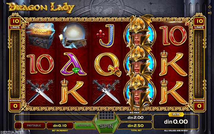 Dragon Lady, GameArt, Online Casino Bonus