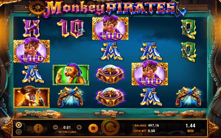 Monkey Pirates, GameArt, Online Casino Bonus