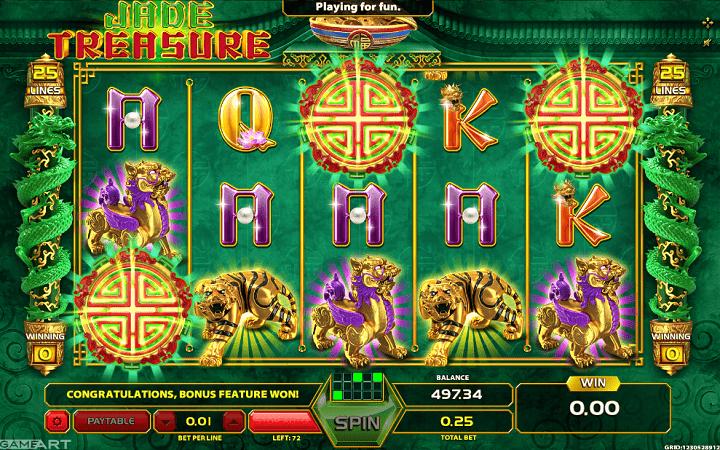Jade Treasure, GameArt, Online Casino Bonus