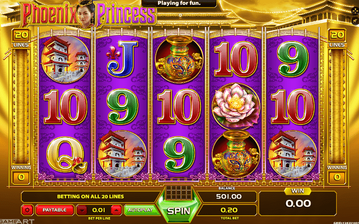 Phoenix Princess, GameArt, Online Casino Bonus