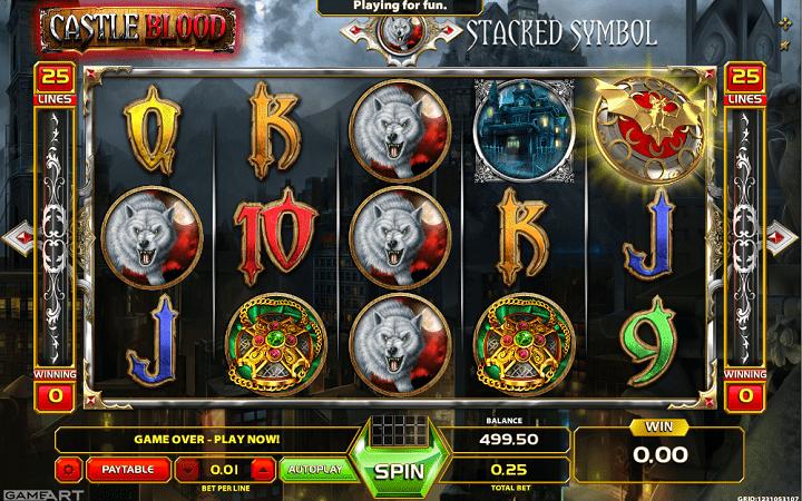 Castle Blood, GameArt, Online Casino Bonus