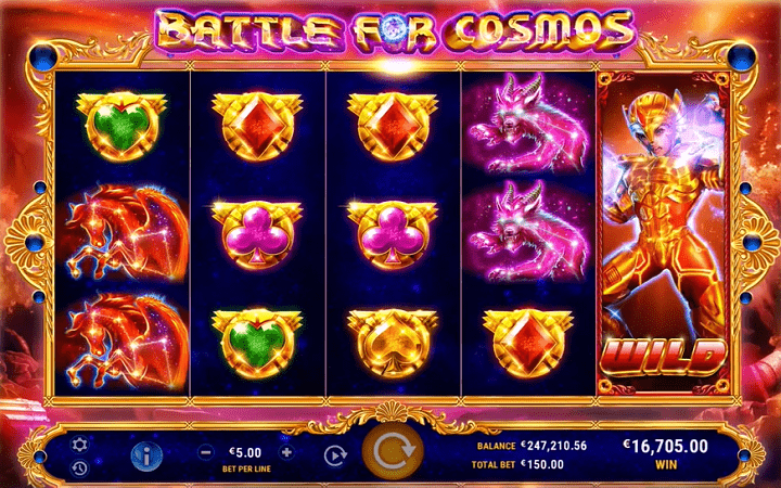 Battle for Cosmos, GameArt, Online Casino Bonus