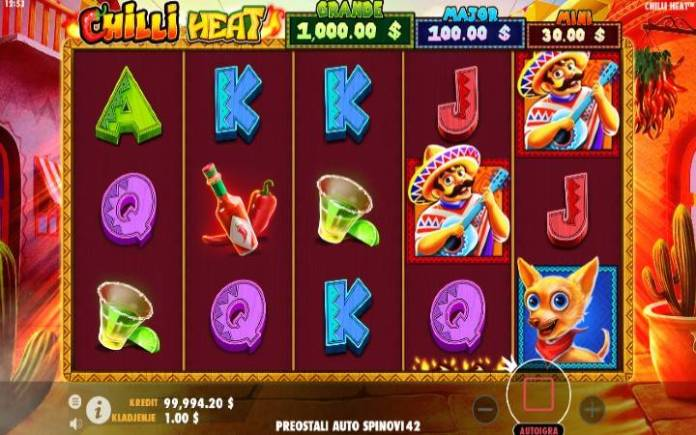 Chilli Heat, Online Casino Bonus