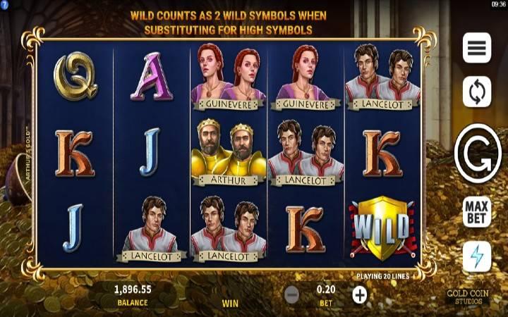 Arthurs Gold, Online Casino Bonus
