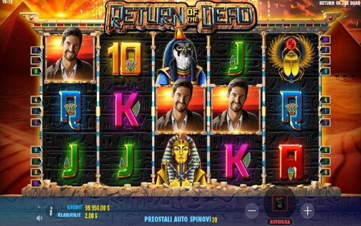 Return of the Dead, Online Casino Bonus