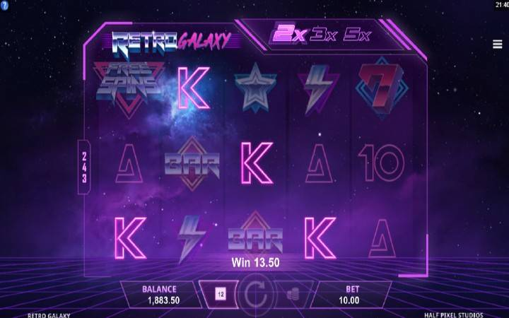 Retro Galaxy, Online Casino Bonus