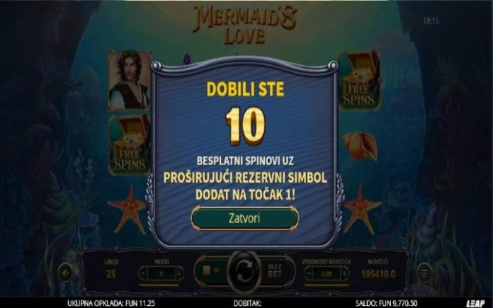Mermaids Love, Online Casino Bonus