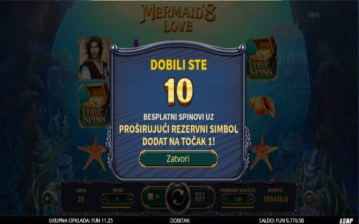 Mermaids Love, Online Casino Bonus