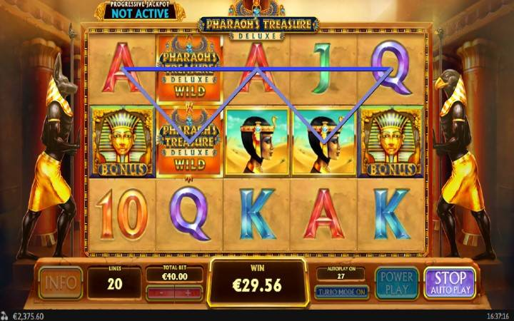 Pharaohs Treasure Deluxe, Online Casino Bonus