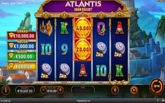 Atlantis Cash Collect-osnovna igra-online casino bonus