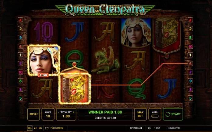 Džoker-Queen Cleopatra-online casino bonus-osnovna igra