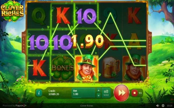 Džoker-Clover Riches-dobitna kombinacija sa džokerom-online casino bonus