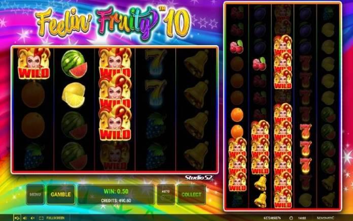 Džoker-dobitna kombinacija sa džoker simbolom-Feelin Fruity 10