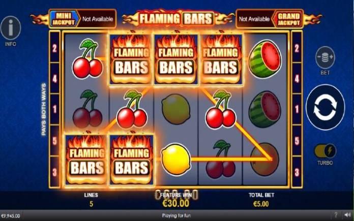 Flaming Respin Bonus-Flaming Bars