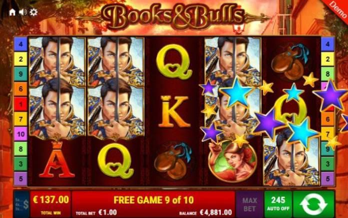 Besplatni spinovi-lepljivi džokeri-books and bulls