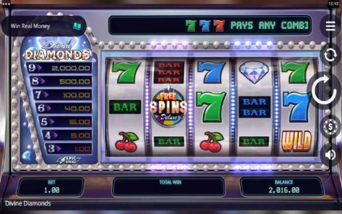 Divine Diamonds-osnovna igra-online casino bonus