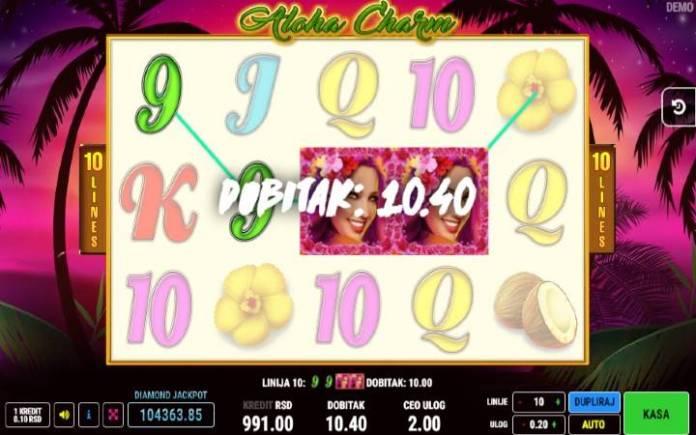 džoker-aloha charm-onine casino bonus